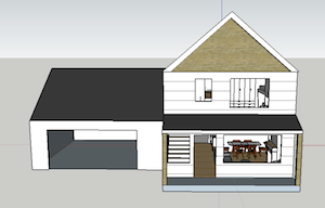 3D rendering of house design