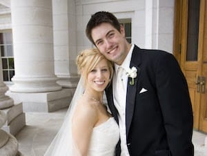 Wedding photo of Chris and Jaime