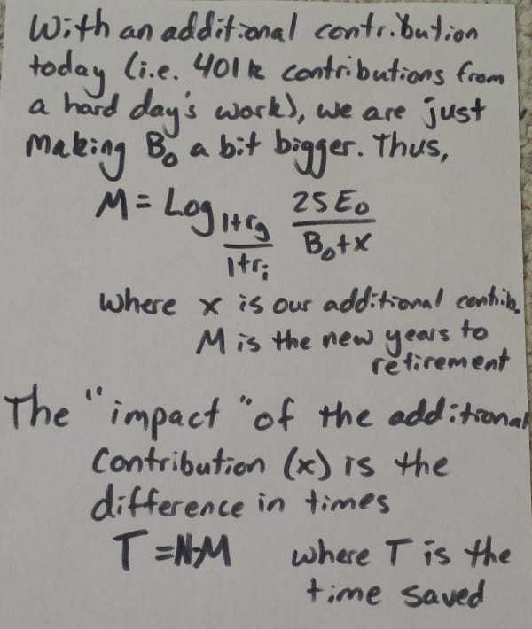 Explanation of adding some small contribution today