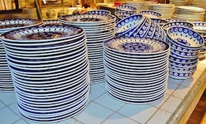 Stacks of plates and bowls