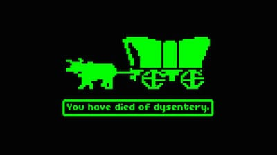 Screenshot of losing the game because of dysentery