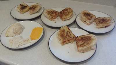 Fancy grilled cheese sandwiches...mmm...