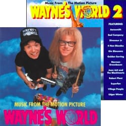 Wayne's World and Wayne's World 2 Soundtrack covers