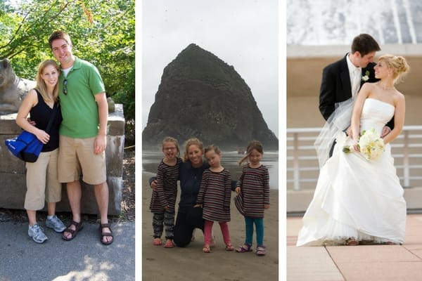 Collage of my wife and family through the years