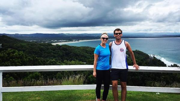 Kyle and Lauren at the Byron Bay Lookout