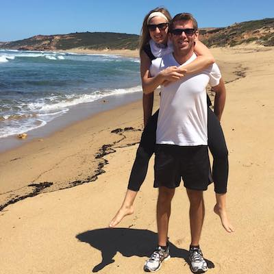 Kyle and Lauren on the beach