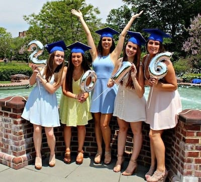 Kelsey and friends after graduation