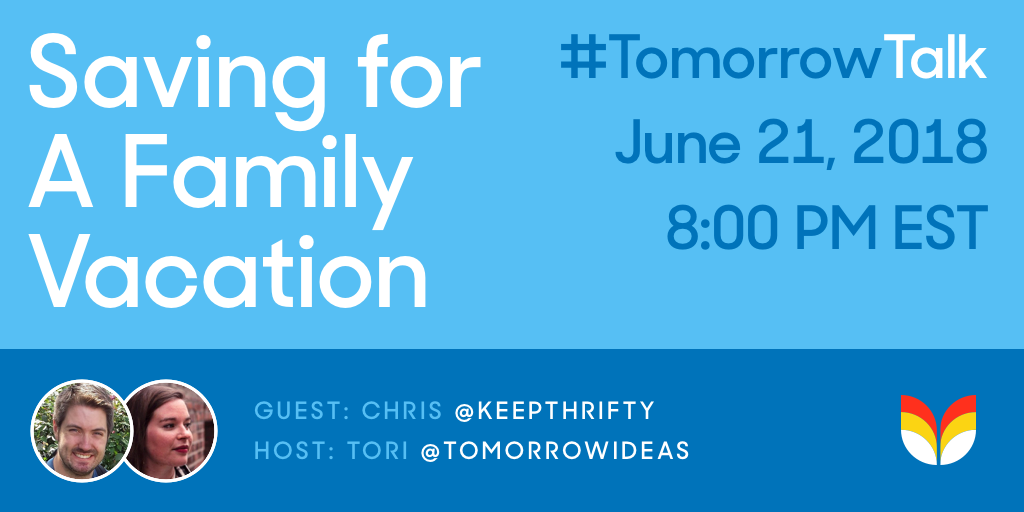 #TomorrowTalk Thursday, June 22nd at 8PM EST