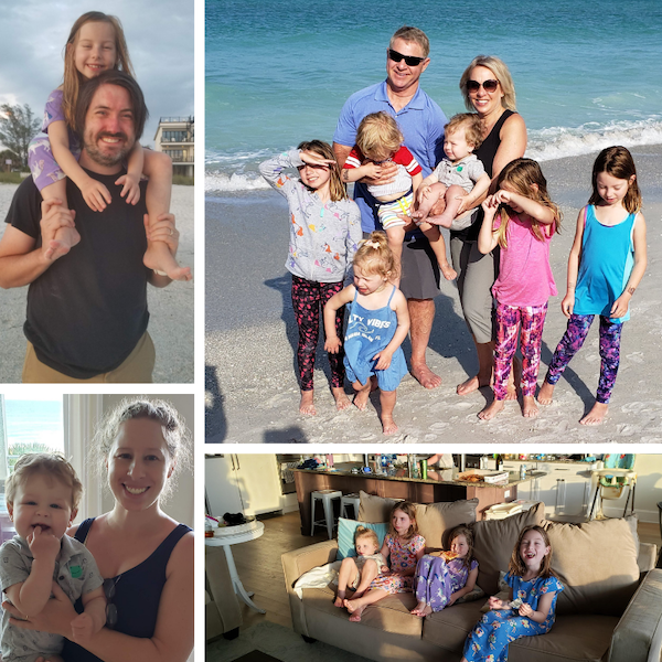 Family vacation collage